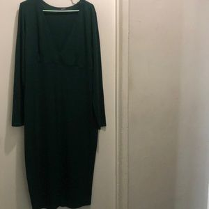 Plus Size-Forest Green Dress